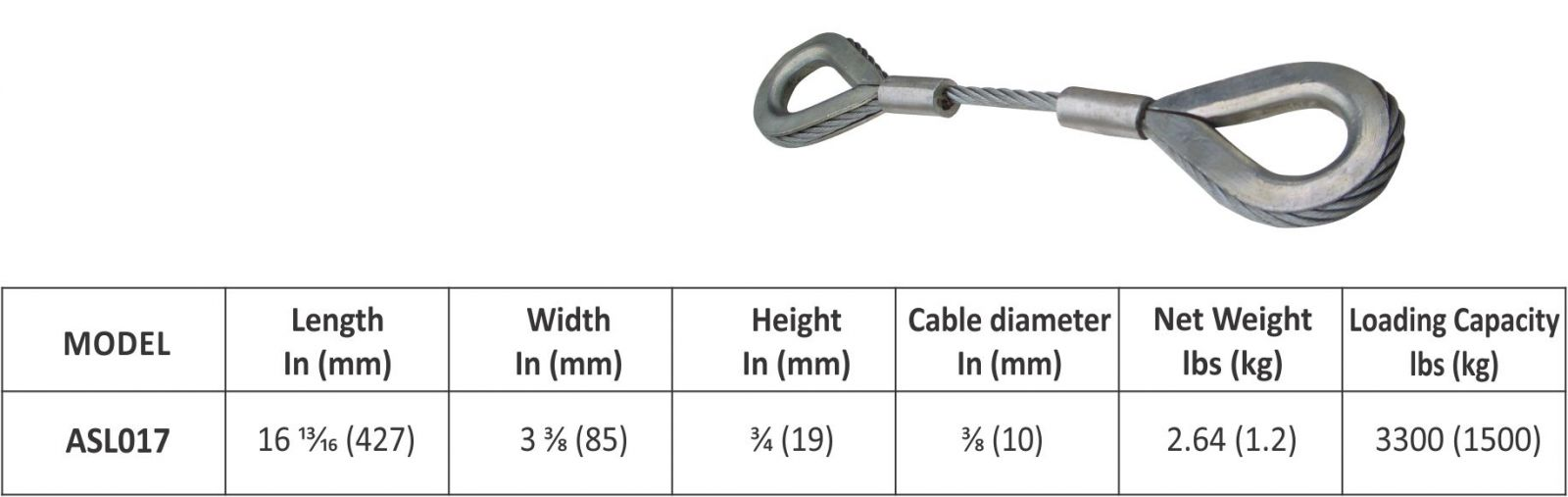 Cable Connect Sling Abaco Accessories Abaco Machines Abaco Asl017